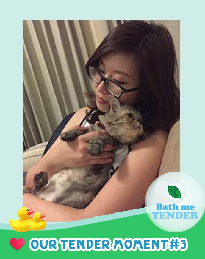 Bath me Tender - Tender Moment - รูปแมวน่ารัก - 27-8-59 - บีและน้องมีมี่